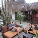 Talking and relaxing at Secret Garden (Mark & Dustin)