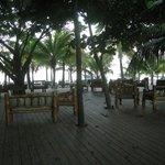 Terrasse avant la plage