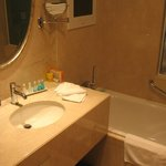 Bathroom - note TV above bath