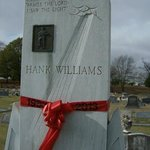 """The Georgia Marble Monument is inscribed with his song """"I saw the Light"""" with was his funeral so"""
