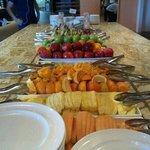buffet breakfast fruit section