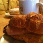 Breakfast Ham Croissant Sandwich