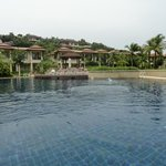 Pool by the villas