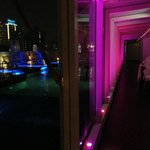The light show never ends! Pool/Roof-top Flava Bar