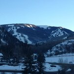 View of Beaver Creek Mountain from our room.