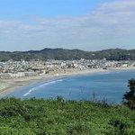 仏法寺跡からの由比ヶ浜方面の眺め