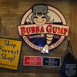 At the shop inside Bubba Gump's