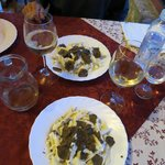 Delicious truffles specially prepared for us