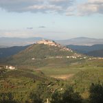 View from our room: splendid village of Motovun