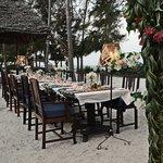 La table du nouvel an 2013 sur la plage (5 bungalows, 12 personnes!)