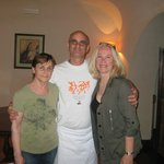 Vincenzo with Mamma Lucia and me.