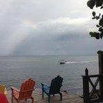 rainbow from the bar deck