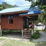 unsere Hütte in der ersten Reihe