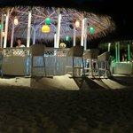 die Strandbar am Abend