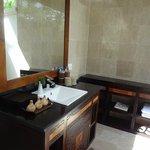 客室の屋外バスルーム