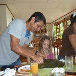 Elkin serving delicious tamales