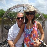 Chicks dig the airboat ride!