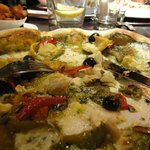 lovely pizza with pesto.