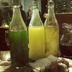 selection of home-made after-dinner drinks.