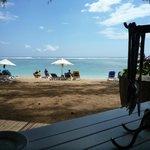 La plage devant le restaurant La Plage