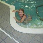 Granddaughter loving the pool