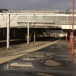 Stoke on Trent Railway Station; from southern end of platform one