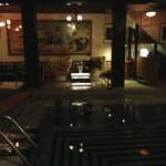 Night at the small, beautiful pool area
