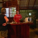 bar area sorry pic is blurry