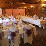 The upstairs room ready for our reception