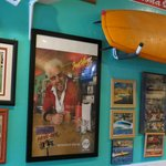 Photos, caricatures and collections of vintage water skis are a feast for your eyes...