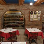 Caruso room and wine cellar.