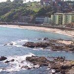 Vista desde el albergue de la playa
