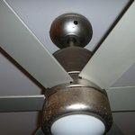 The rusty ceiling fan