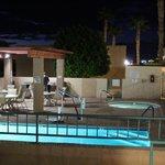 pool, hot tub, & BBQ area.