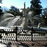 Forsyth Park Fountain at Christmas time