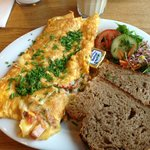 Omelette made to order with lovely bread