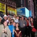 on the roof of the Renaissance Hotel, Times Square New Years Eve 2012