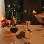 Table setting and view in the Indian Restaurant