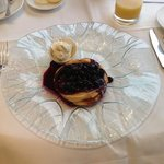 blueberry pancakes for breakfast highly recommened!