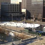 Skating rink view from our window.