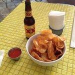 'mafalda' y cerveza.