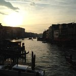 sun set over the grand canal