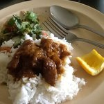 goat curry and pennyworth salad