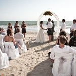 Beach ceremony area