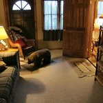 Wilderness Suite's Sitting Room (note bear footrest!)