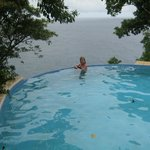 the infinity pool - beautiful aside from the 'swimmer'