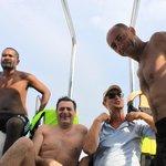 Thai crew member, Peter, Eric and Simon
