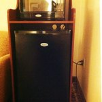 Microwave and large refrigerator in suite