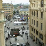 A view of the open market from the room No. 409