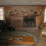 Family room, with fireplace